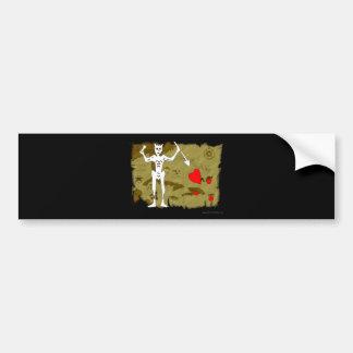 Jolly Roger Map  #1 Bumper Sticker