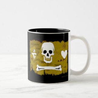 Jolly Roger Map #2 Two-Tone Coffee Mug