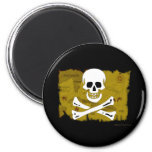 Jolly Roger Map #3 2 Inch Round Magnet