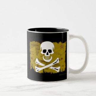 Jolly Roger Map #3 Two-Tone Coffee Mug