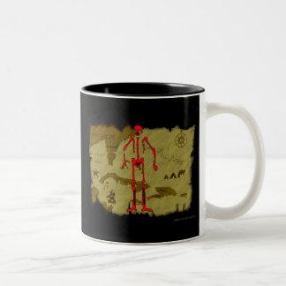 Jolly Roger Map #6 Two-Tone Coffee Mug