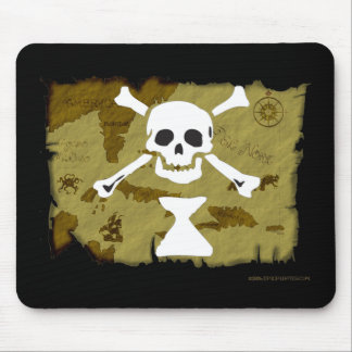 Jolly Roger Map  #9 Mouse Pad