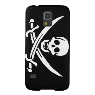 Jolly Roger of Calico Jack Rackham (BLACK) Case For Galaxy S5