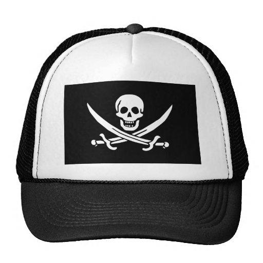 Jolly Roger of Calico Jack Rackham (BLACK) Mesh Hat