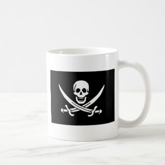Jolly Roger of Calico Jack Rackham (BLACK) Classic White Coffee Mug