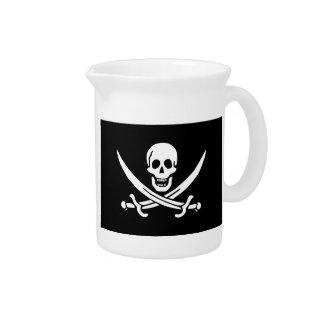 Jolly Roger of Calico Jack Rackham (BLACK) Drink Pitcher