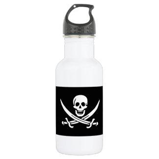 Jolly Roger of Calico Jack Rackham (BLACK) Stainless Steel Water Bottle