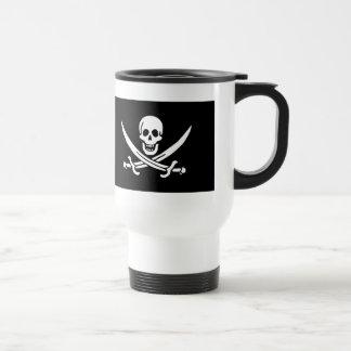 Jolly Roger of Calico Jack Rackham (BLACK) Travel Mug