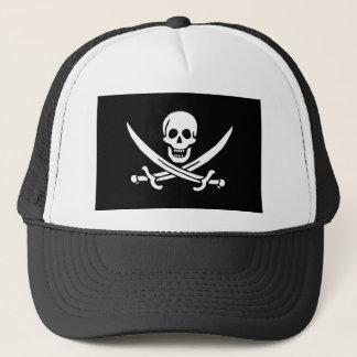 Jolly Roger of Calico Jack Rackham (BLACK) Trucker Hat