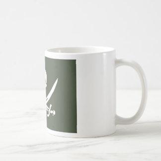 Jolly Roger of Calico Jack Rackham (Green) Coffee Mug