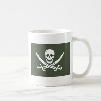 Jolly Roger of Calico Jack Rackham (Green) Classic White Coffee Mug