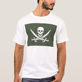 Jolly Roger of Calico Jack Rackham (Green) T-Shirt