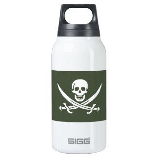 Jolly Roger of Calico Jack Rackham (Green) Thermos Bottle