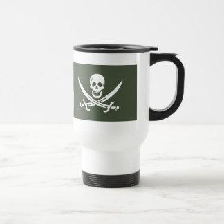 Jolly Roger of Calico Jack Rackham (Green) Travel Mug