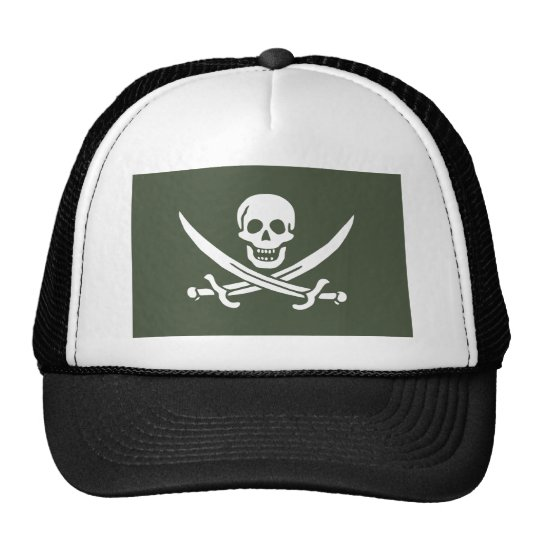 Jolly Roger of Calico Jack Rackham (Green) Trucker Hat