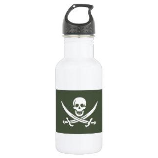 Jolly Roger of Calico Jack Rackham (Green) Water Bottle