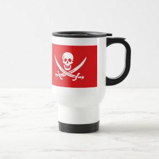 Jolly Roger of Calico Jack Rackham (RED) Travel Mug
