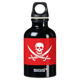 Jolly Roger of Calico Jack Rackham (RED) Water Bottle