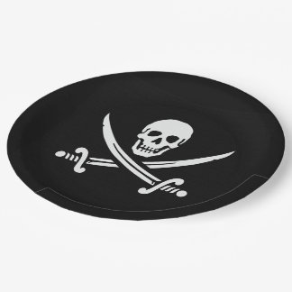 Jolly Roger Paper Plate