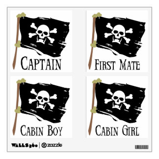 Jolly Roger Party Pack Wall Sticker