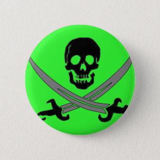 Jolly Roger Pinback Button
