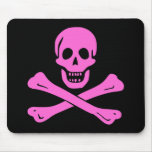 Jolly Roger Pink Mouse Pad