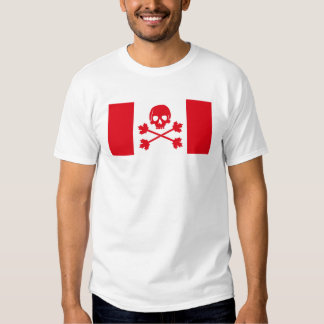 Jolly Roger Pirate Canadian Flag Shirt