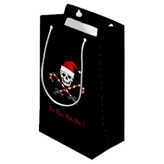 Jolly Roger Pirate Christmas Gift Bag Small Gift Bag