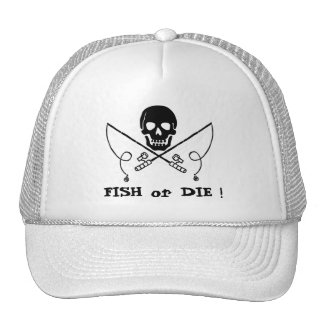 Jolly Roger Pirate Fishing Cap