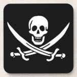 Jolly Roger Pirate Flag Beverage Coaster