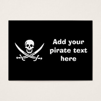 Jolly roger pirate flag business card