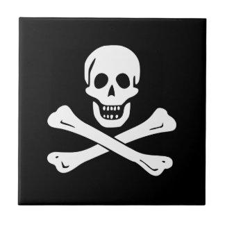 Jolly Roger Pirate Flag Ceramic Tile