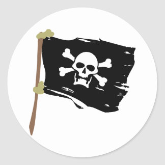 Jolly Roger Pirate Flag Classic Round Sticker