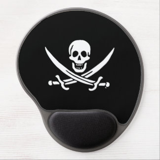 Jolly roger pirate flag gel mouse pad