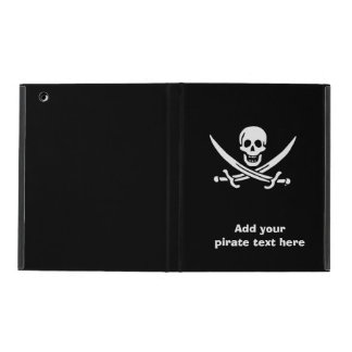 Jolly roger pirate flag iPad folio case