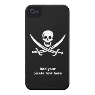 Jolly roger pirate flag iPhone 4 case