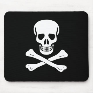 Jolly Roger Pirate Flag Mouse Pad