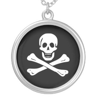 Jolly Roger Pirate Flag Necklace