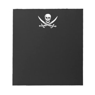 Jolly roger pirate flag notepad