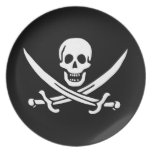 Jolly Roger Pirate Flag Party Plate