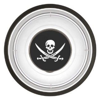 Jolly roger pirate flag pet bowl
