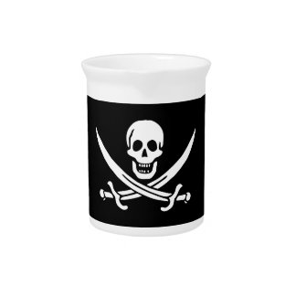 Jolly Roger Pirate Flag Pitcher