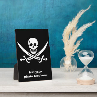 Jolly roger pirate flag plaque