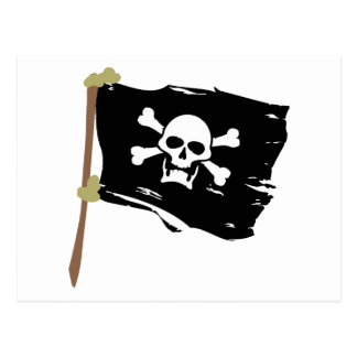 Jolly Roger Pirate Flag Postcard