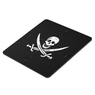 Jolly roger pirate flag puzzle coaster