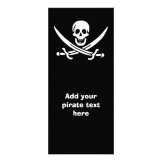 Jolly roger pirate flag rack card
