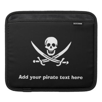 Jolly roger pirate flag sleeve for iPads