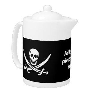 Jolly roger pirate flag teapot