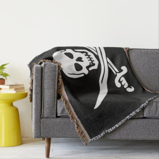 Jolly Roger Pirate Flag Throw