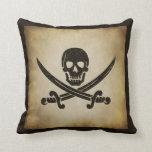 Jolly Roger Pirate Flag Throw Pillow